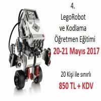 4. Lego Robot ve Kodlama Öğretmen Eğitimi 20-21 Mayıs 2017 tarihlerinde İzmir'de yapılacaktır