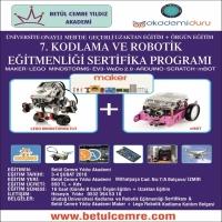 7. Kodlama ve Robotik Eğitmenliği Sertifika Programı 3-4 Şubat 2018 Tarihinde Düzenlenecektir